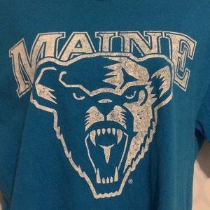 University of Maine logo blue T-shirt size medium
